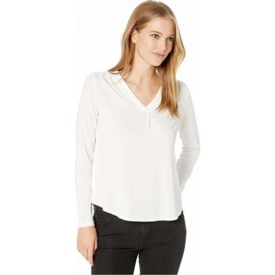 マイケルスターズ Michael Stars レディース ブラウス・シャツ トップス Cambria Crepe Knit Lena Long Sleeve Shirt with Pleats Chalk