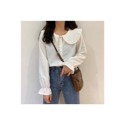 【送料無料】秋 女性 ワイシャツ 年 フレンチ タイプ レトロ フリル スウィート   364331_A63778-8398033