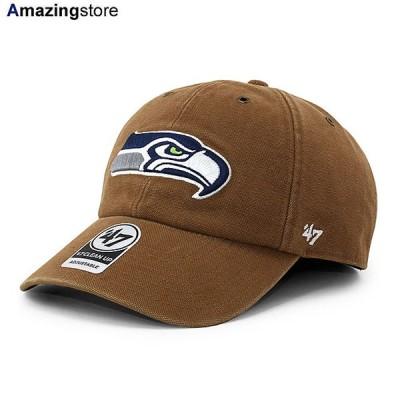47ブランド カーハート シアトル シーホークス 【CARHARTT NFL CLEAN UP STRAPBACK CAP/BROWN】 47BRAND SEATTLE SEAHAWKS