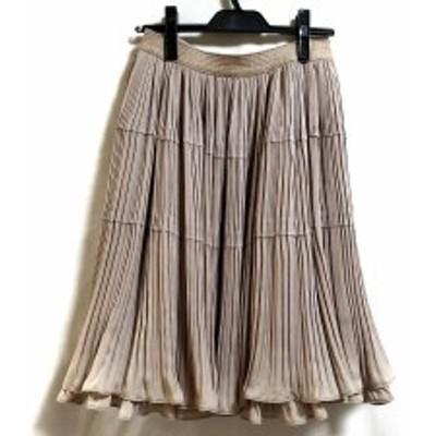 トゥービーシック TO BE CHIC スカート サイズ40 M レディース 新品同様 - ベージュ ひざ丈/プリーツ【中古】20200508