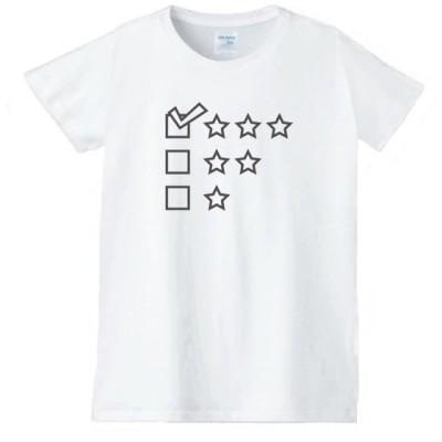 ハート 虹 星 Tシャツ 白 レディース 女性用 jhn92