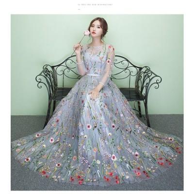 ウエディングドレス 豪華な ウェディングドレス☆ロングドレス☆ フリル ドレス ☆格安【結婚式】【ウェディングドレス 二次会】