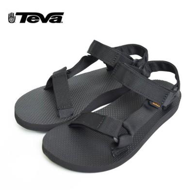 TEVA テバ 1003987 Original Universal BLACK オリジナル ユニバーサル ストラップ サンダル ビーチ フェス 野外 アウトドア 海 川 山 レディース 軽量 女性
