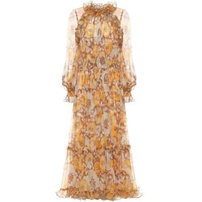 ジマーマン Zimmermann レディース ワンピース マキシ丈 ワンピース・ドレス super eight ruffled silk maxi dress Toffee Poppy