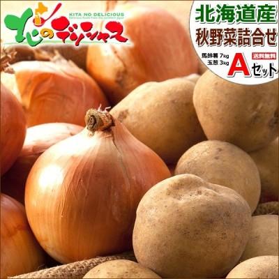 【予約】北海道産 野菜セットA 10kg(男爵いも 7kg・玉ねぎ 3kg) 新じゃが 馬鈴薯 玉葱 野菜セット 野菜詰め合わせ ギフト 自宅用 北海道 グルメ お取り寄せ