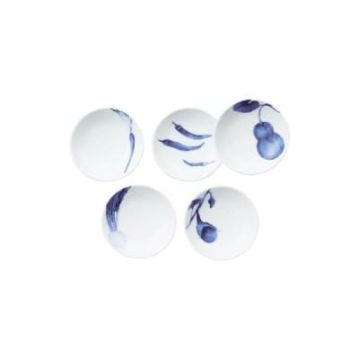 Noritake ノリタケ  KYOUKASYUNSAI AI 京香旬彩 藍 10cmプレートセット(5枚)(絵変り) F91419/1720-37 小皿