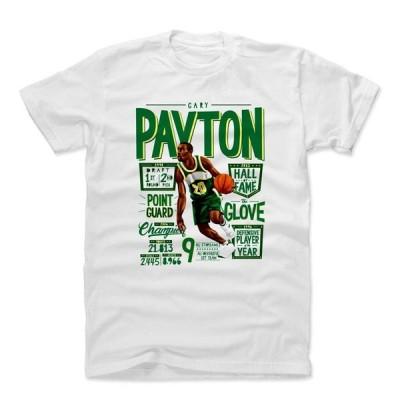 NBA シアトル・スーパーソニックス Tシャツ ゲイリー・ペイトン Position G T-Shirt 500Level ホワイト