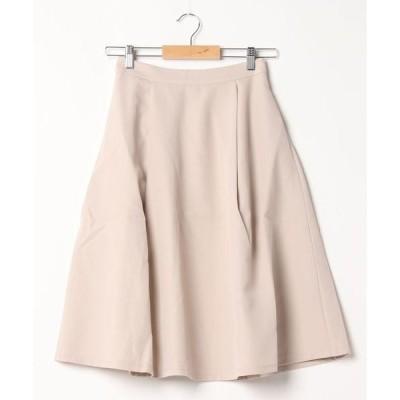スカート 膝丈フレアスカート