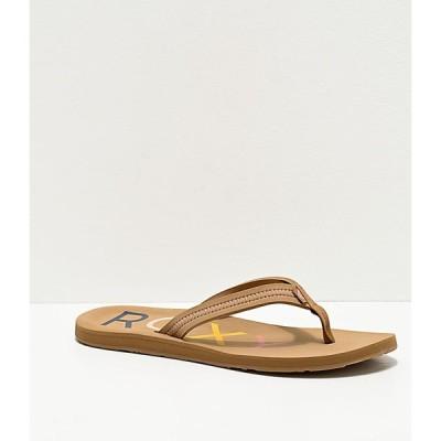 ロキシー ROXY レディース サンダル・ミュール シューズ・靴 vista iii tan sandals Natural