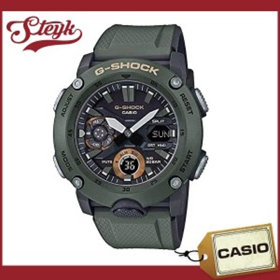 CASIO GA-2000-3A カシオ 腕時計 アナデジ G-SHOCK Gショック メンズ ブラック カーキ カジュアル
