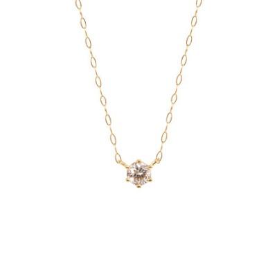 【WEB限定】K18 イエローゴールド ダイヤモンド ネックレス(0.15ct)
