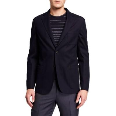エルメネジルド・ゼニア メンズ ジャケット・ブルゾン アウター Men's Solid Trim-Fit Pique Jersey Blazer