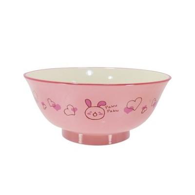 アサヒ興洋 食洗子供麺丼 もぐもぐうさぎ ピンク 直径14.8cm 高さ6.5cm