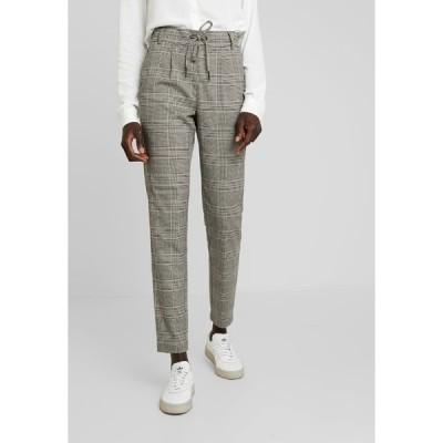 オンリー トール カジュアルパンツ レディース ボトムス ONLPOPTRASH EASY SAVIL CHECK PANT - Trousers - black/merlot/adobe