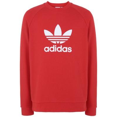 ADIDAS ORIGINALS スウェットシャツ レッド M コットン 100% スウェットシャツ