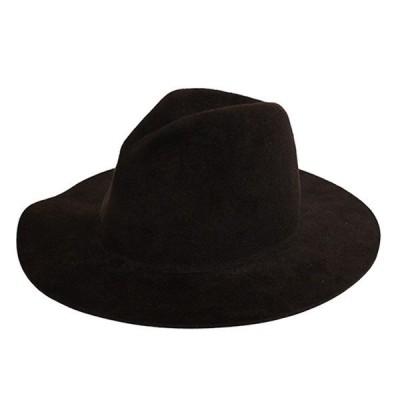 UNUSED ラビットファーハット Rabbit Fur Hat ロングブリム中折れハット ブラウン サイズ:00 (青山店) 201024