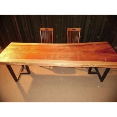 一枚板 ダイニングテーブル ローテーブル 無垢 脚付 天板 座卓 杉 スギ 長さ243cm D-049