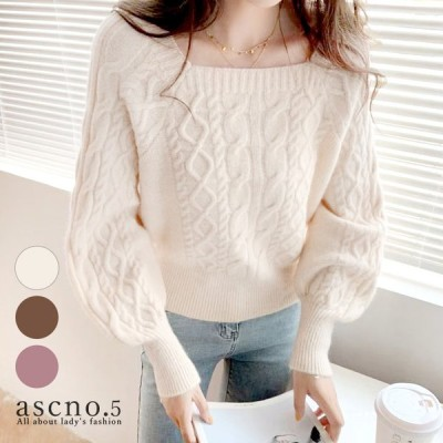 トップス ニット ざっくり ガーリー 大きめ きれい 個性的 韓国 韓国ファッション ざっくり編み 柔らか カラーバリエーション ワイドスリーブ