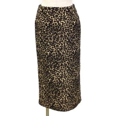 セレクション L'ESSAGE JOURNAL STANDARD スカート レオパード 豹柄 ブラウン x ベージュ ランクA