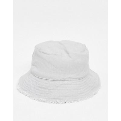 エイソス レディース 帽子 アクセサリー ASOS DESIGN canvas bucket hat in gray