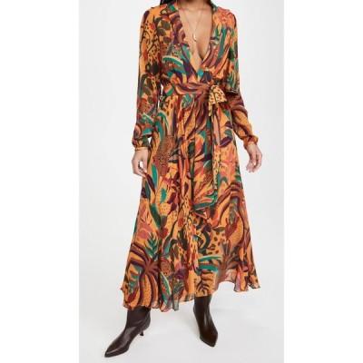 ファーム FARM Rio レディース ワンピース マキシ丈 ワンピース・ドレス Golden Jungle Maxi Dress Multi