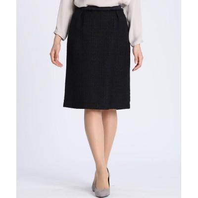 【クリアインプレッション】 ファンシーツイードAラインスカート レディース ダークネイビー8 15 CLEAR IMPRESSION