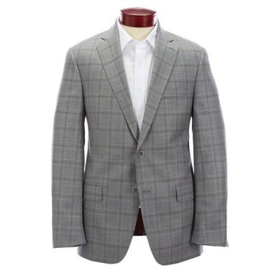 ハートシャファネールマークス メンズ ジャケット&ブルゾン アウター Modern Fit Light Grey Plaid Wool Sportcoat Grey