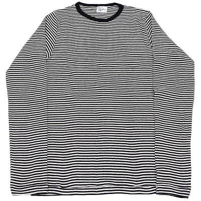 RP MILLER BORDER LONG SLEEVE TEE(ミラーボーダー長袖Tシャツ) (ホワイトXブラック)