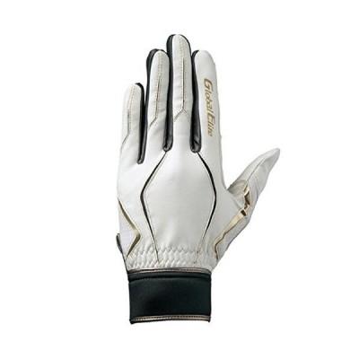 ミズノ(MIZUNO) グローバルエリート 守備手袋 ZeroSpace(右手用) 1EJED191 01 ホワイト/ブラック M