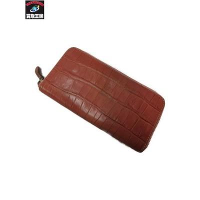 Felisi/クロコ型押し/ラウンドジップ/長財布