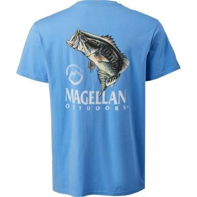 マジェランアウトドア Tシャツ トップス メンズ Magellan Outdoors Men's Jumping Bass T-Shirt Blue Light 02