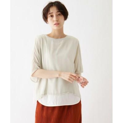 SHOO・LA・RUE/シューラルー tricot tricot 楊柳シフォン重ね着風Tシャツ ライトグレー(011) 02(M)