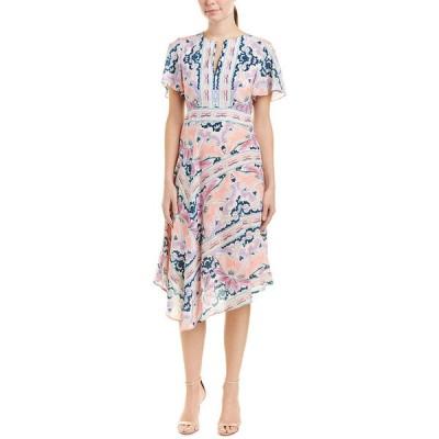 ナネットレポー ワンピース トップス レディース Nanette Lepore Papa's Roses Silk Midi Dress cream multicolor