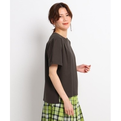 Dessin(Ladies)(デッサン(レディース)) 【XS~L/コットン100%/洗える】コットンツイルシルケット タックカットソー