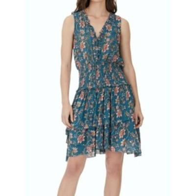 William Rast ウィリアムラスト ファッション ドレス WILLIAM RAST NEW Blue Womens Size Medium M Smocked Floral Sheath Dress