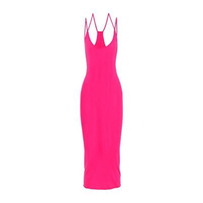 ENZA COSTA 7分丈ワンピース・ドレス フューシャ M コットン 100% 7分丈ワンピース・ドレス
