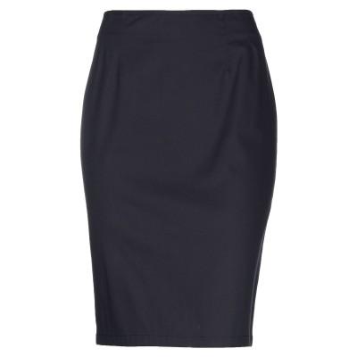 CLIPS MORE ひざ丈スカート ダークブルー 50 コットン 98% / ポリウレタン 2% ひざ丈スカート