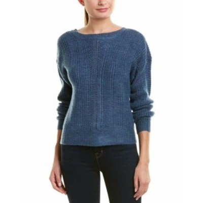 ファッション トップス Design History Slouchy Cabled Sweater L Blue