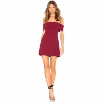 バイ ザ ウェイ by the way. レディース ワンピース ワンピース・ドレス Aubrey Off Shoulder Dress Wine Red