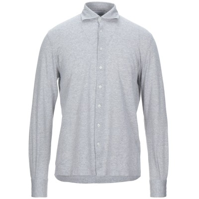 FILIPPO DE LAURENTIIS シャツ ライトグレー 48 コットン 50% / リネン 50% シャツ