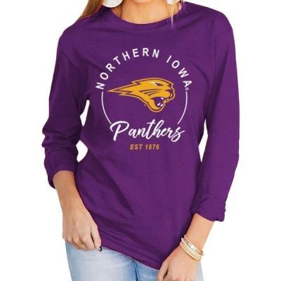 ゲームデイ クチュール Gameday Couture レディース 長袖Tシャツ トップス Northern Iowa Panthers Purple Varsity Long Sleeve T-Shirt