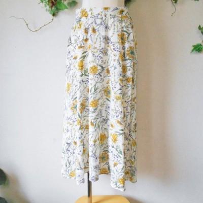レイ カズン Ray Cassin 春夏 向き お花 プリント の 可愛い ロング 丈 スカート F