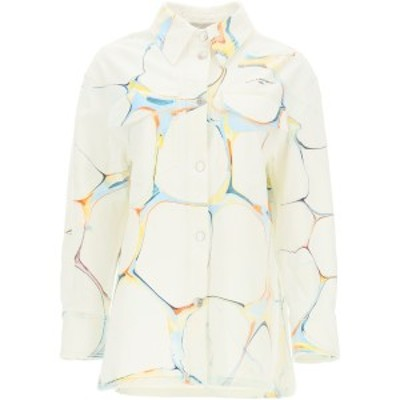 STELLA MCCARTNEY/ステラ マッカートニー Mixed colours Stella mccartney shirt-jacket with marbled print レディース 春夏2021 602921