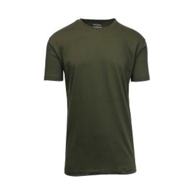 ギャラクシーバイハルビック メンズ Tシャツ トップス Men's Crew Neck T-Shirt Olive