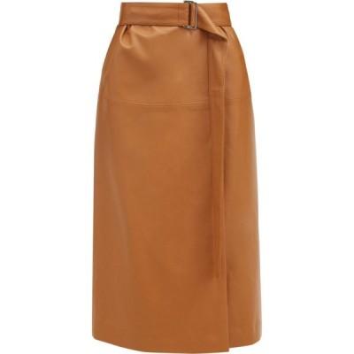 ジョゼフ Joseph レディース ひざ丈スカート ラップスカート スカート Salic leather wrap midi skirt Camel