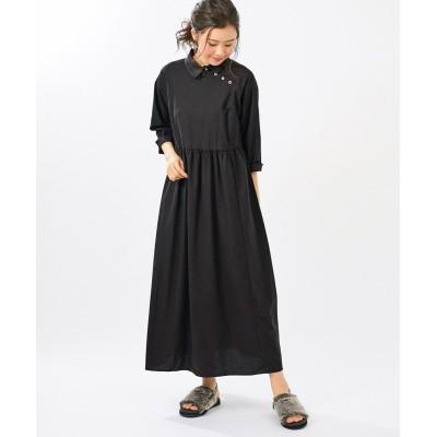 大きいサイズ 7分袖マルチボタンロング丈ワンピース(オトナスマイル) ,スマイルランド, ワンピース, plus size dress