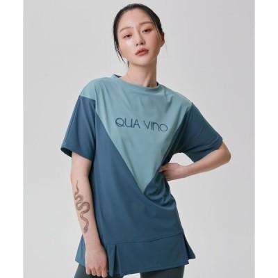 tシャツ Tシャツ 【QUA VINO 】フェイバリットグリーン ロングティーシャツ