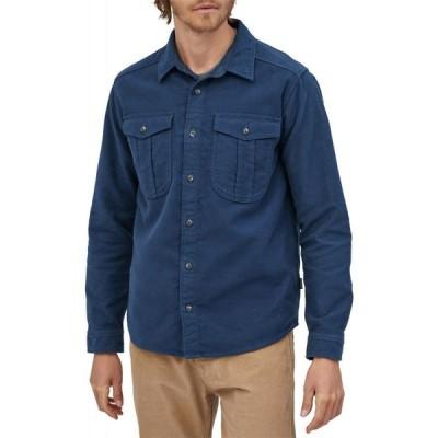 パタゴニア Patagonia メンズ シャツ トップス long-sleeved topo canyon moleskin shirt Stone Blue