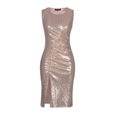 VANESSA SCOTT ミニワンピース&ドレス ベージュ S ナイロン 87% / 金属繊維 7% / 合成繊維 6% ミニワンピース&ドレス