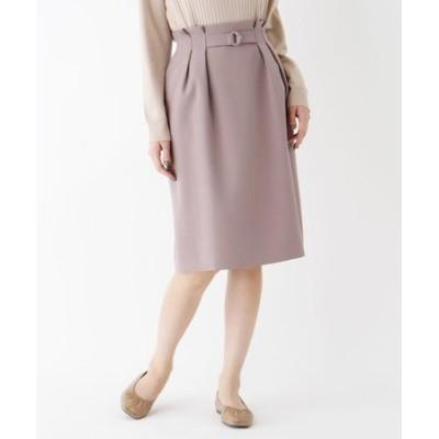 【大きいサイズあり・13号】ベルトディテールタイトスカート